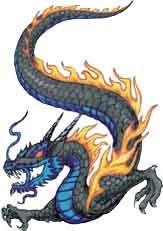 Fire Dragon Tattoo