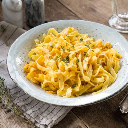 Pasta Alfredo mit Kürbis_featured