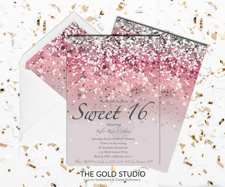 24 best Sweet 16 invitations images – Printable 16th Birthday Invitations