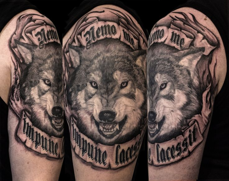 Wolf Tattoo by Mehdi Rasouli broken tooth tattoos