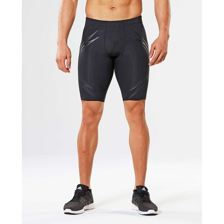2XU Lock men's short compression tights.