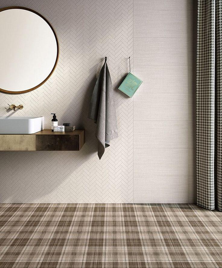 #tegel #trend #spiegel #koper #modern #badkamer