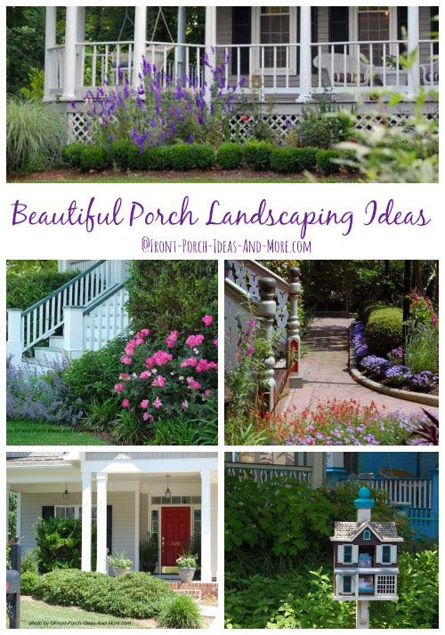 Porch landscaping ideas for your front yard and more for Front porch landscaping plants