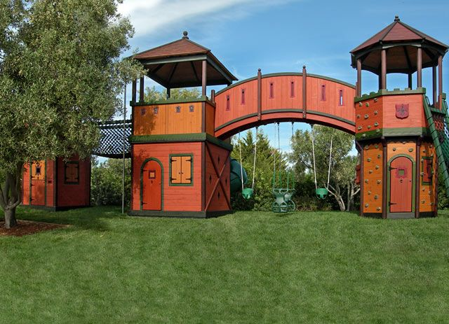 Barbara Butler-Extraordinary Play Structures for Kids-Fort Mediterranean: Fort Mediterranean Front View