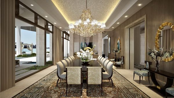 New modern luxury estate in dubai by antoni associates villas fashion styles and dining rooms - Modern luxury dining room ...