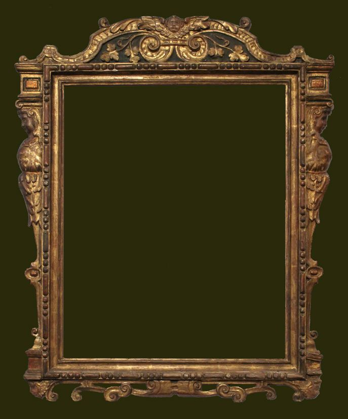 Interesting Sansovino Type Frame The Inner Part Is Modern But The Outer Carving Is Late 15th Century And In Good Antique Picture Frames Picture Frames Frame