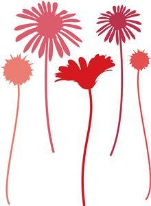 Blumen Silhouette