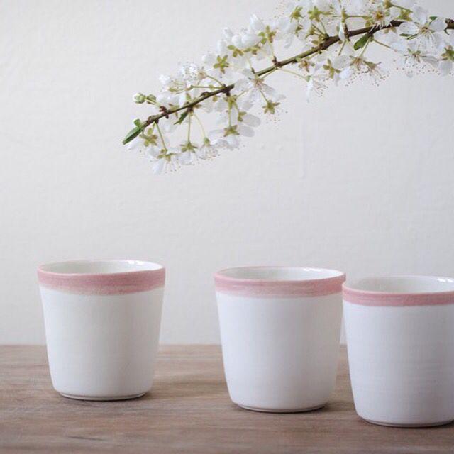 Handmade porcelain espresso cups by jharberink porcelain