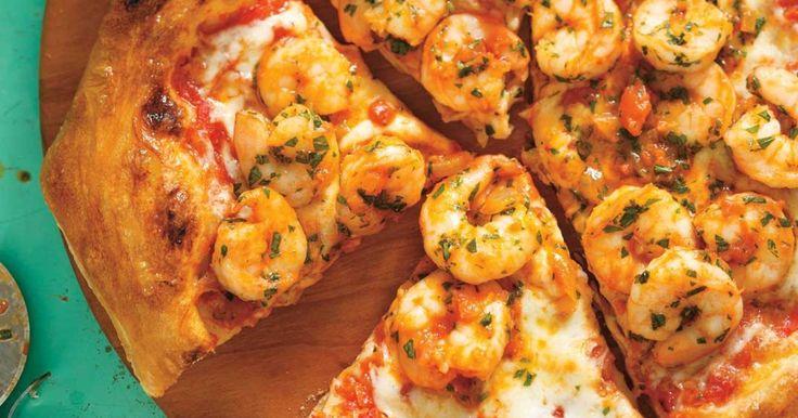 Pizza aux crevettes fra diavolo