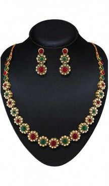 Green,Maroon Color American Diamond Work Artificial Jewellery Necklaces Set   FH500676599 Follow us @heenastyle  #Necklace #onlineshopping #necklaceset #forsale #gold #artificial #goldplated #designs #fashion #jewelry #fashionjewellry #accessories #womenfashion #pendentset #earing #jumkis #bangle #bracelets #mangalsutra #tikka #headpieces #handbags #cluethesbeg #ring #indianfashion #fashionista #anklets #bridelset #weddingset #dimondset #brass #metal #heenastylenecless #heenastyle