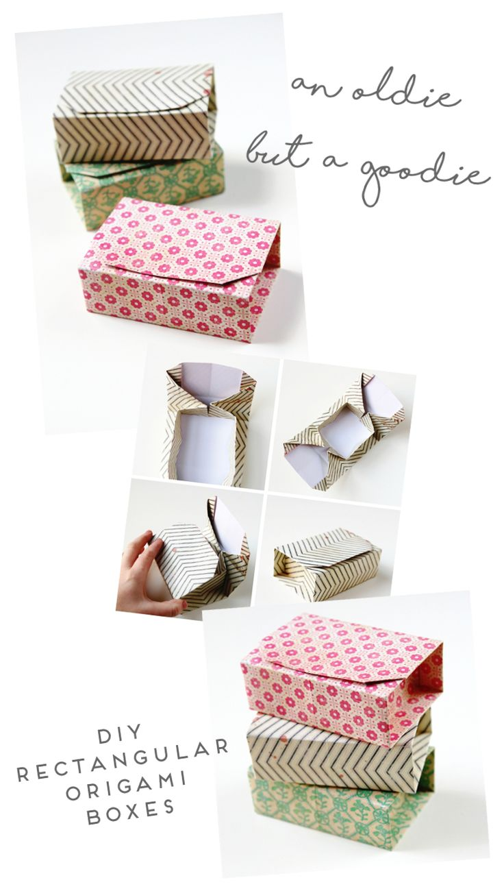 AN OLDIE BUT A GOODIE – DIY RECTANGULAR ORIGAMI BOXES.