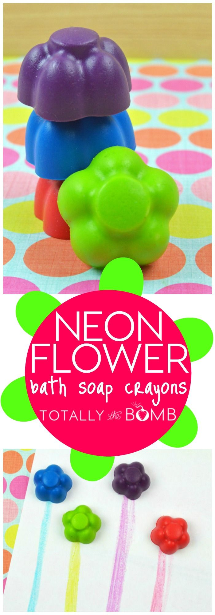 You'll never have to beg your kids to use soap once you make these spring flower bath crayons! They're good clean fun! Click now!