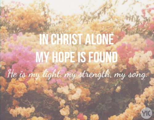 Isn't is nice to know that in Christ alone our hope is found? Not in being skinny?