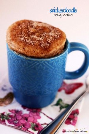 Snickerdoodle Mug Cake, a delicious one-minute dessert idea for a quick and satisfying dessert when you just need a single-serving of something sweet. Inspired by the classic snickerdoodle cookie recipe, this snickerdoodle mug cake has the perfect light, fluffy cake with a generous cinnamon-sugar coating