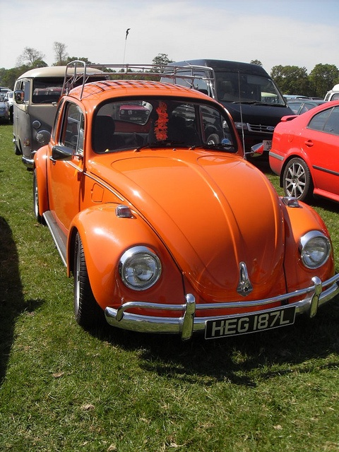 Orange VW Beetle bug by LostLeicester, via Flickr