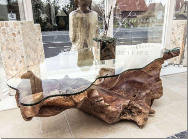 Wurzeltisch Couchtisch Baumwurzel Couchtisch Baumstamm Tisch