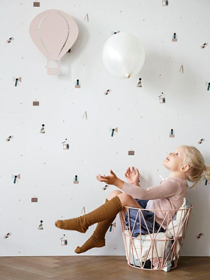 kinderzimmer skandinavisch einrichten wandlampen air baloon mädchenzimmer