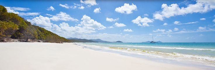 The Whitsundays is famous for its warm emerald waters and idyllic white sand beaches, including Whitehaven Beach, which is recognised in the Guinness Book of World Records as having the softest, whitest sand in the world.