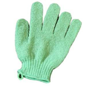 Green Exfoliating Gloves, Pack of 10
