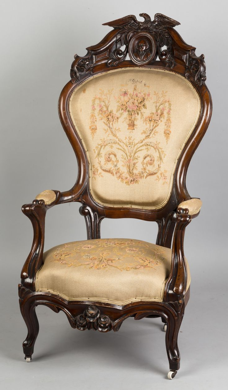 Antique victorian armchair - Victorian Arm Chair Cottoneauctions Com