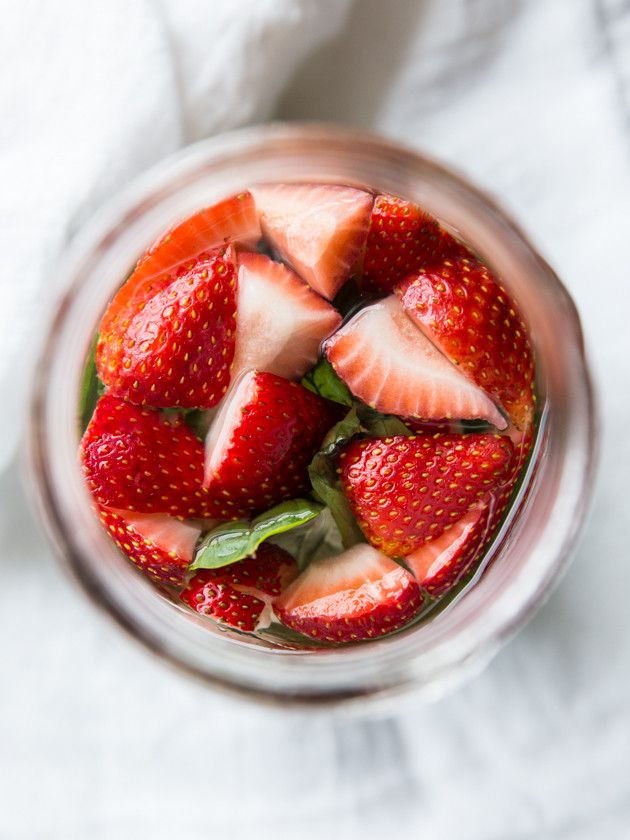 Strawberry Basil Sangria, For Two // fresh, summery and easy to make!