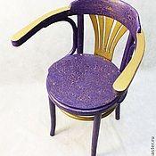 Для дома и интерьера ручной работы. Ярмарка Мастеров - ручная работа Венский стул фиолетовый. Handmade.