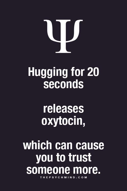 Your hugs mean everything.