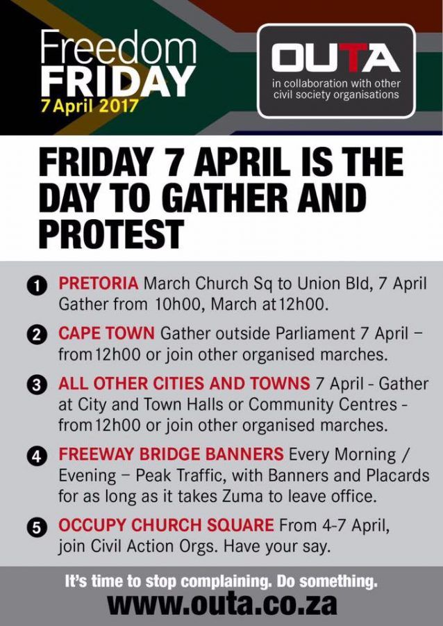 Human Chain and MARCH Venues Across South Africa for 'Freedom Friday' | SAPeople - Your Worldwide South African Community