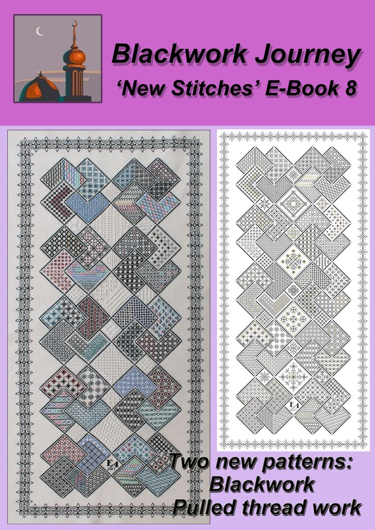A smaller version of 'Save the Stitches' - two  projects, Blackwork and Pulled Thread Work