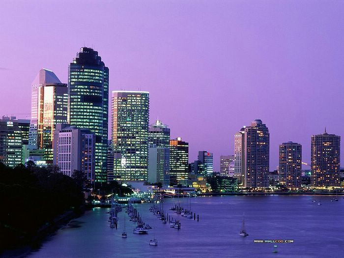 City at Night: Brisbane Australia Night View