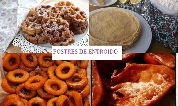 El entroido y sus postres. En esta época los favoritos en Galicia son las orejas, flores y las rosquillas carnaval además de las filloas rellenas.