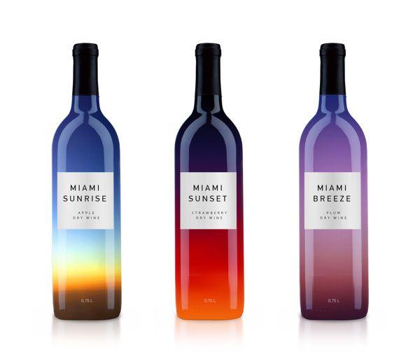 M I A M I by Vlad Likh, via Behance #packaging #design #gradient