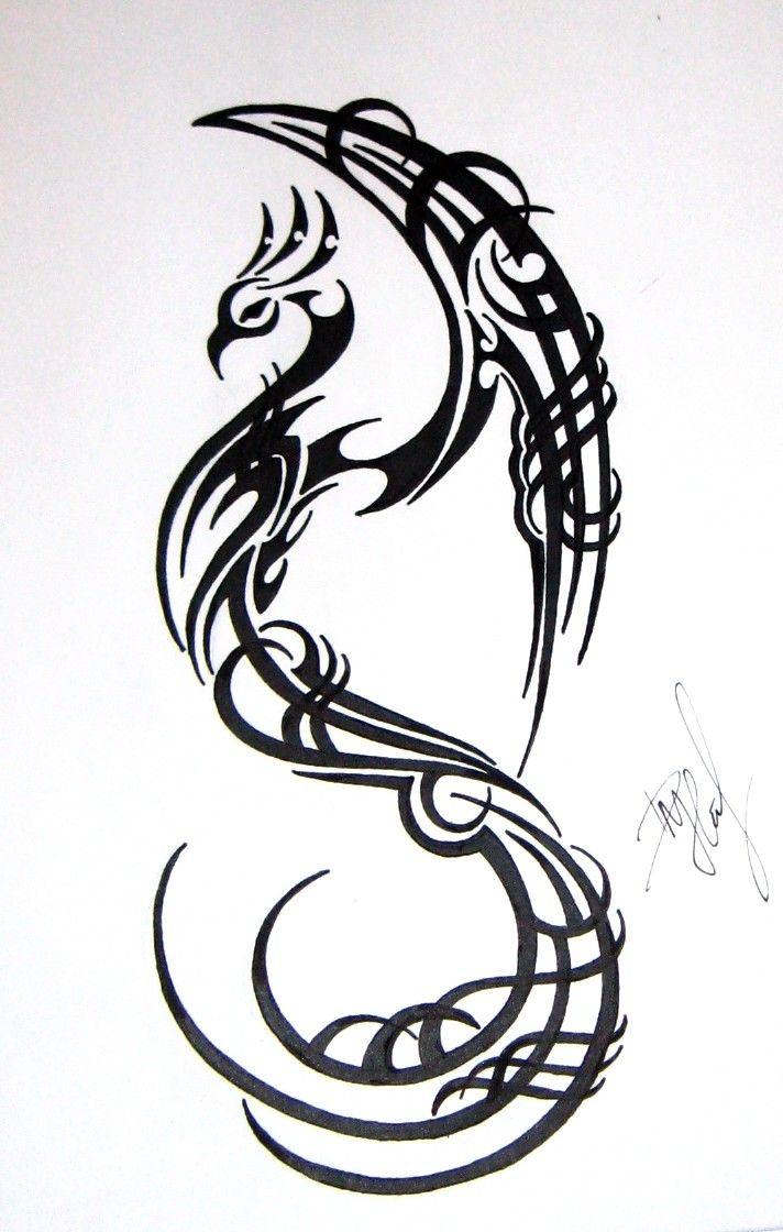 Remarkable Tribal Bird Tattoo Design