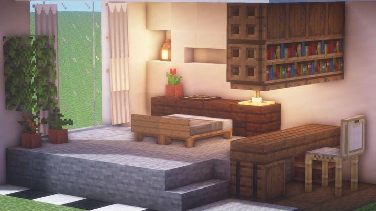 Cool Minecraft Furniture Minecraft In 2020 Easy Minecraft Houses Minecraft Room Minecraft Interior Design