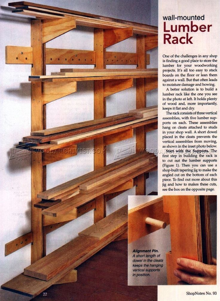 full woodshop with diy ideas together plus of rack vertical size well lumber as storage outdoor