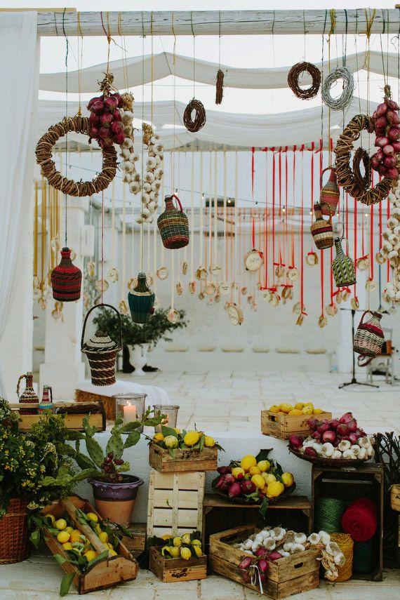 South Italian food market themed wedding | Photo by Cinzia Bruschini | Read more - http://www.100layercake.com/blog/?p=81762