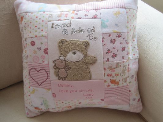 www.annemade.co.uk Handmade keepsakes from your cherished clothing.