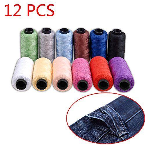 Set de bobinas de hilo de coser Jeans de Candora®, de poliéster, 12colores, 165m, muy grueso de coser sobre tela vaquera, colcha, manta, cojín, cortina, manualidades #bobinas #hilo #coser #Jeans #Candora®, #poliéster, #colores, #m, #grueso #sobre #tela #vaquera, #colcha, #manta, #cojín, #cortina, #manualidades