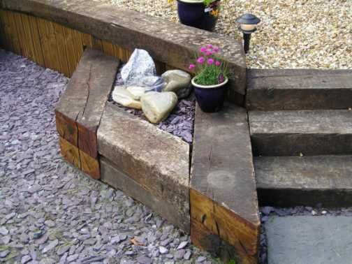 Paul Friar's railway sleeper landscaping 1