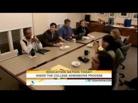 Inside the college admissions process Parenting TODAYshow com.  Great overview on how colleges look at applications.