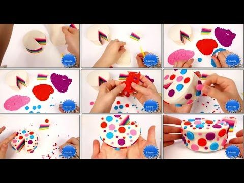 How to make rainbow cake   play doh - Part 2 - permainan boneka anak
