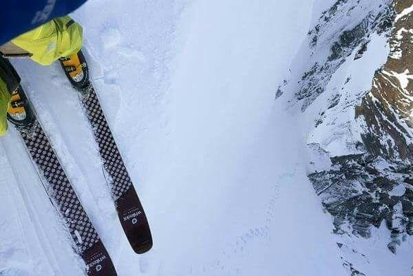 Ben skiing on the Ben