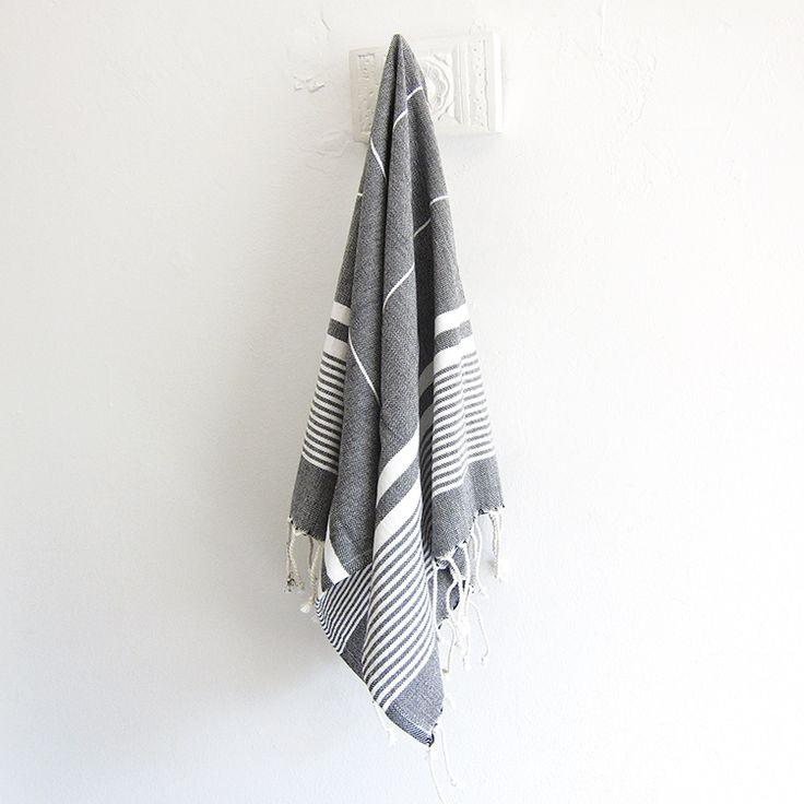 The Soho Turkish hand towel - slate