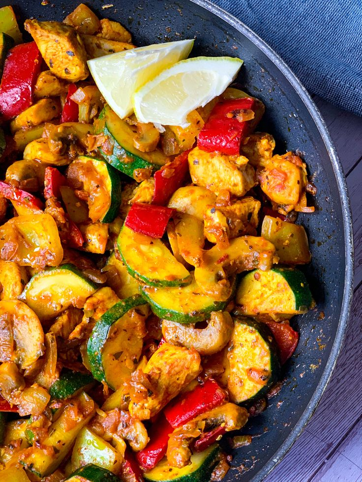One skillet chicken with vegetables - Mediterranean keto ...