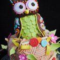 Owl cake. Modrykonik.sk