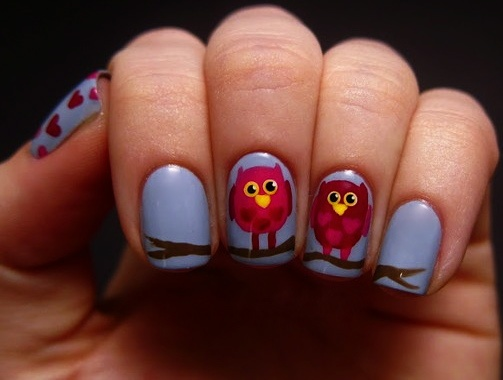 This nail art's a hoot! nailart owls