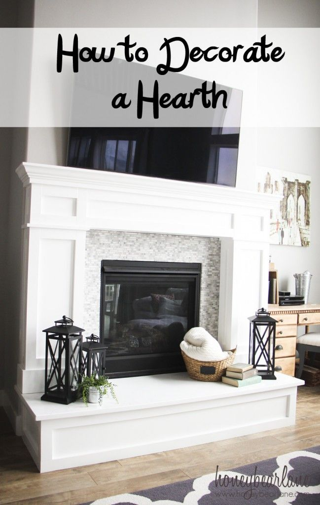 how to decorate a hearth #bhglivebetter @bhglivebetter