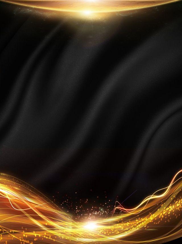 Creative Black Gold Light Effect Background Gold Poster Gold Design Background Gold Light