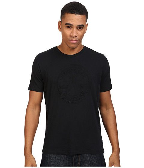 CONVERSE Embossed Short Sleeve Core Patch Crew Tee. #converse #cloth #shirts & tops