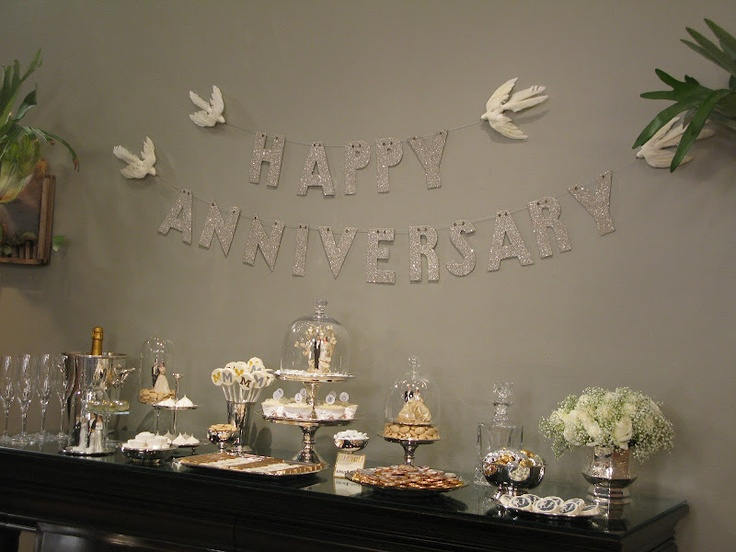 112 best images about 25th anniversary party on pinterest for 25th wedding anniversary decoration ideas